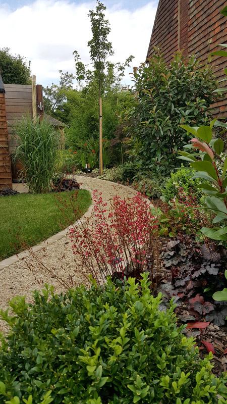 Contemporary Garden With Gazebo