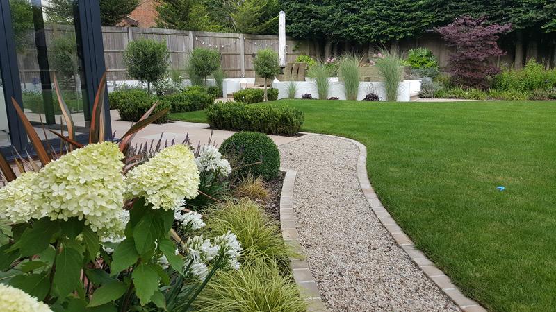 Garden Designers Kent Contemporary Garden with Gazebo