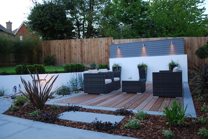 Garden Design in Kent Contemporary Stepped Garden Design