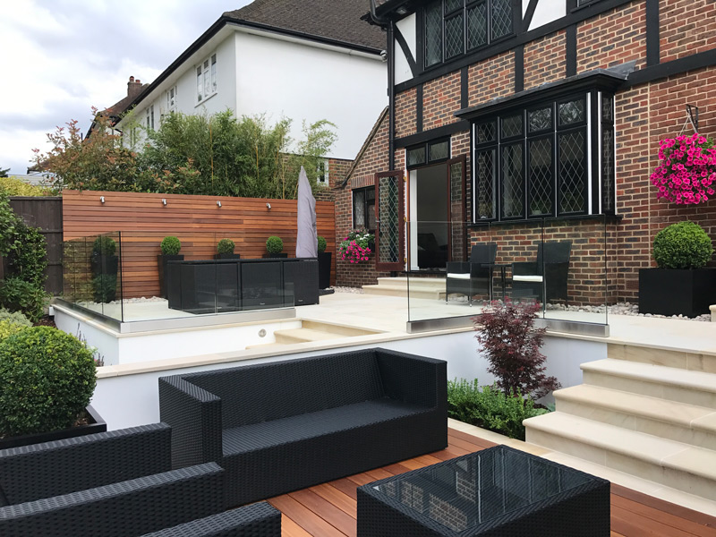 Garden Designers South London | Modern Garden Terrace Design