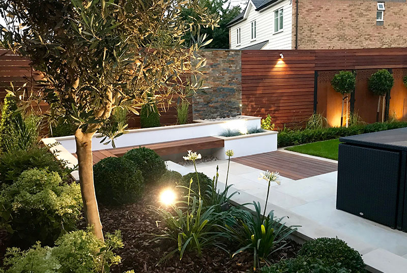 Contemporary Gallery Garden Design in Rochester, Kent ...