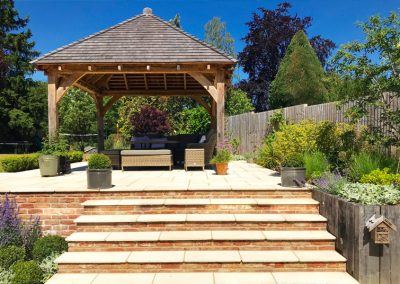 traditional pergola and landscape design in Kent