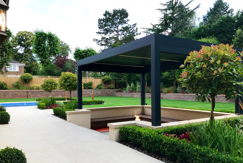 fire pit louvered canopy