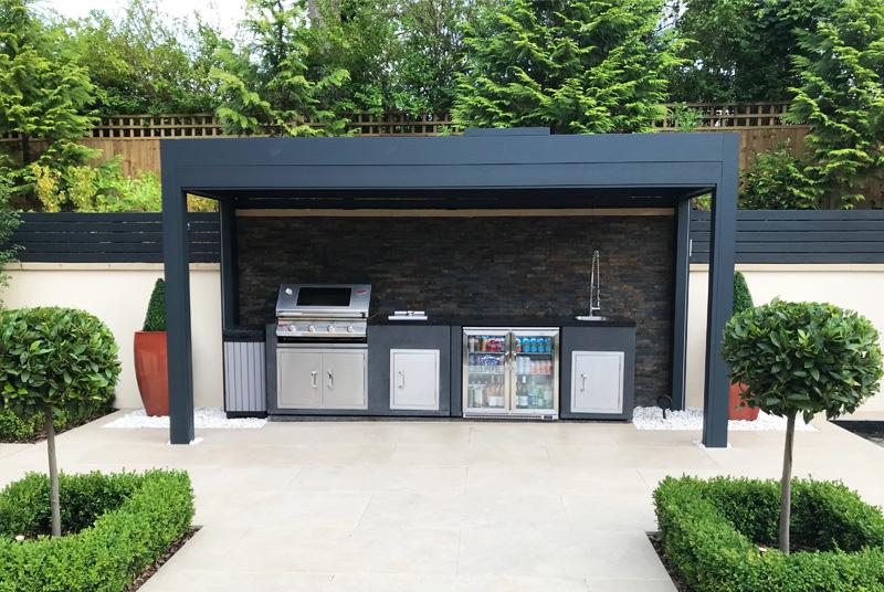 black barbecue area canopy